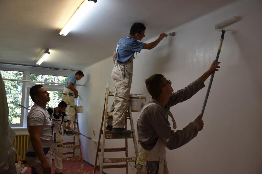 Nyári Gyakorlaton voltak a szobafestők